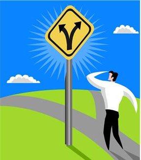 ずっとそこにとどまるか、どちらの道に行くかは、自分で選べる